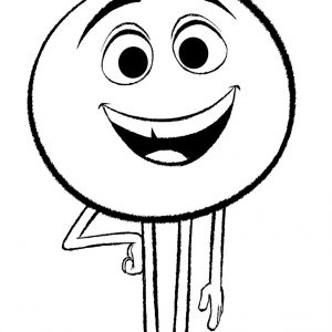 300x300 Coloring Pages Of Emojis New Gene From Emoji Movie Coloring Page