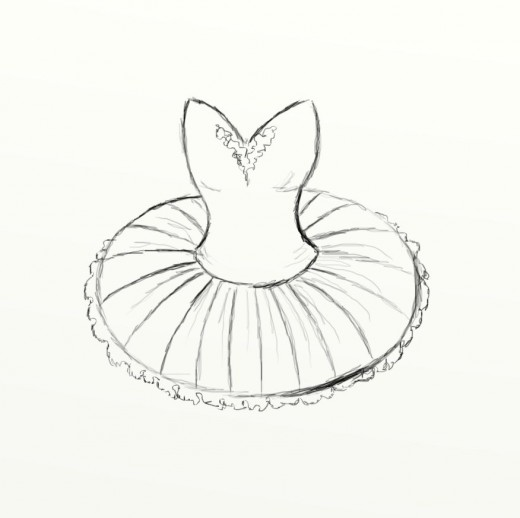 520x518 How To Draw A Tutu Basic Drawing, Ballerina Tutu And Ballerina