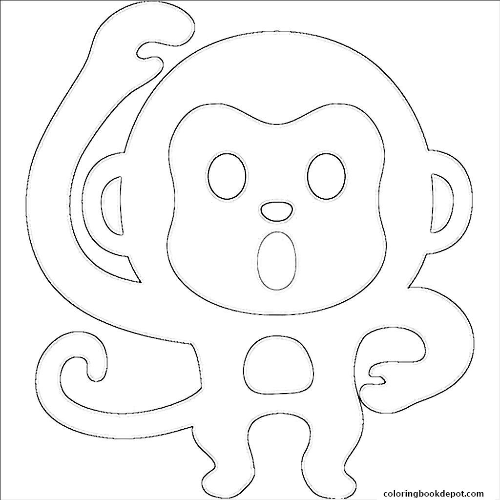 1024x1024 Emoji Monkey Coloring Pages