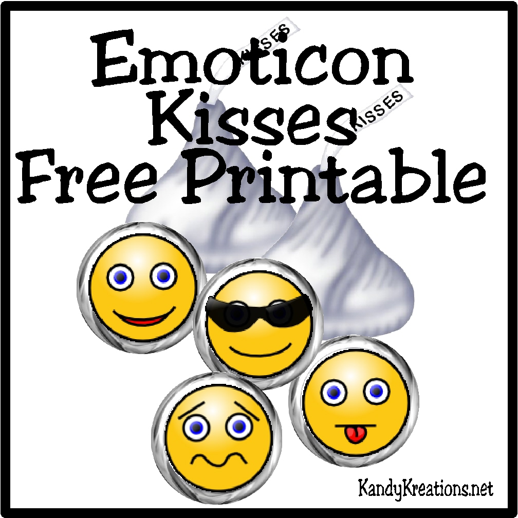 1008x1008 Emoticon Smiley Face Kiss Label Free Printable Everyday Parties