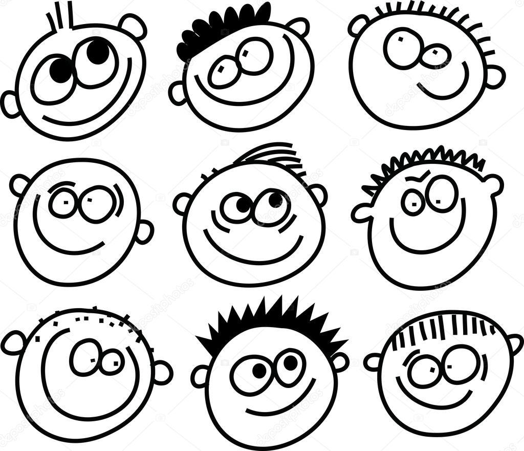 1024x881 Emoticon Doodles Set. Stock Vector Prawny