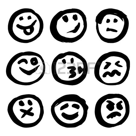 450x450 Set Of Emoticons For Decoration Of Your Projects. Collection