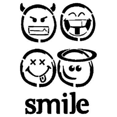 380x380 Stencil 21x29.7cm Smile Emoticon
