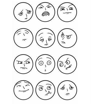 363x415 Duygular Boyama 2 Drawing Faces And Drawings