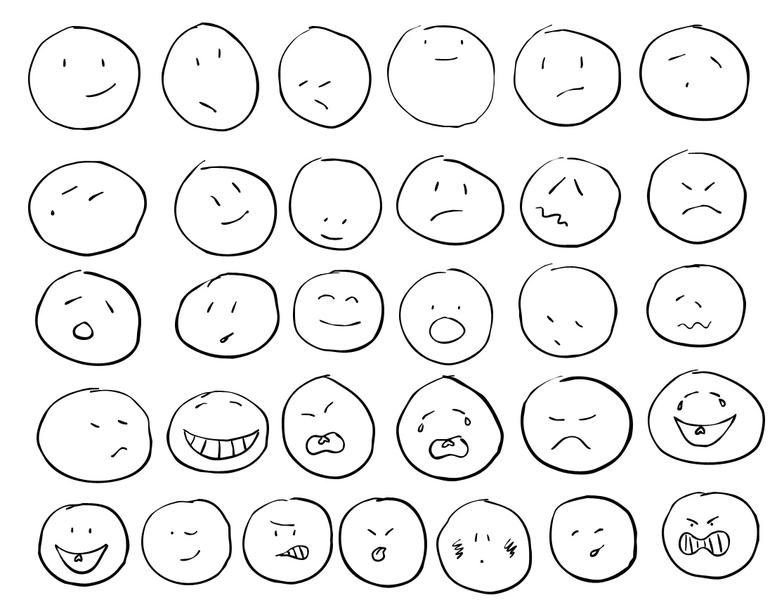 777x600 Awesome 31 Hand Drawn Emoticon Shapes. Sometimes The Slick