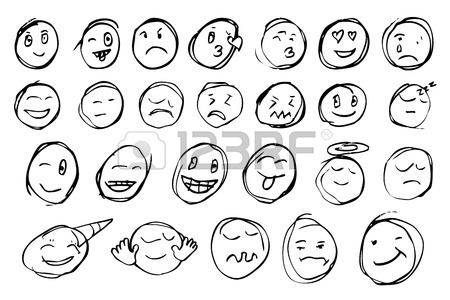 450x300 A Set Of Smiley Emoticons. Merry Pig. Vector Illustration Stock