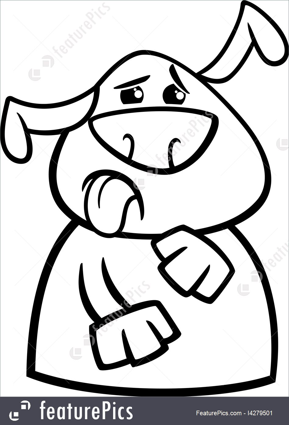 948x1392 Illustration Of Dog Yuck Face Cartoon Coloring Page