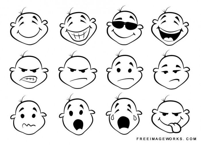 700x505 Drawn Smileys Cartoon