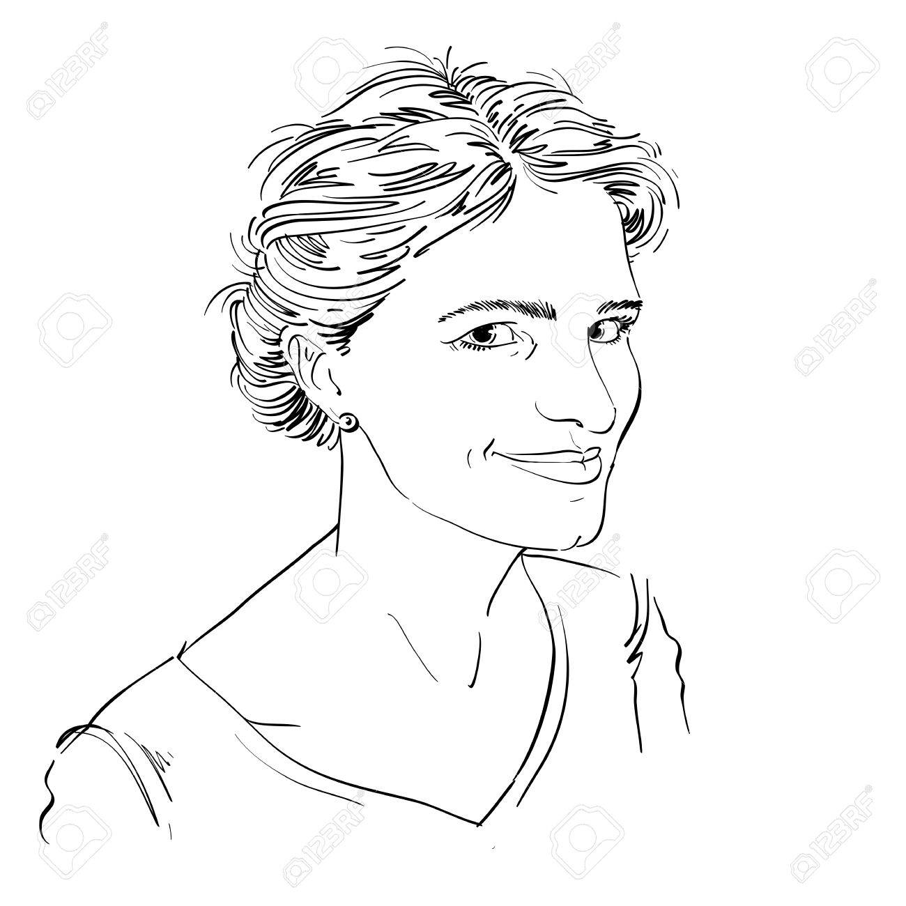 1300x1300 Portrait Of Delicate Good Looking Flirting Woman, Black And White