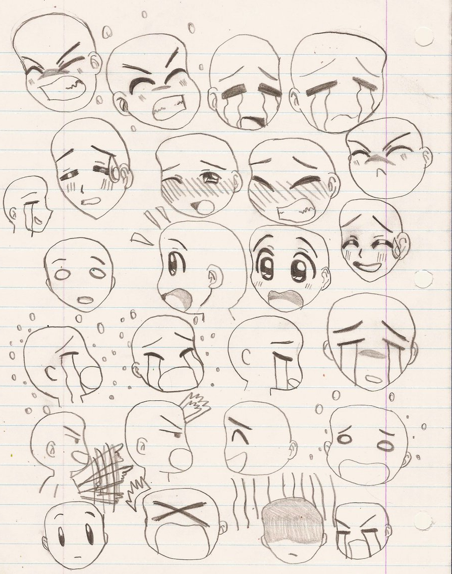 900x1143 Different Expression Face Sketch How To Draw 20 Different Emotions