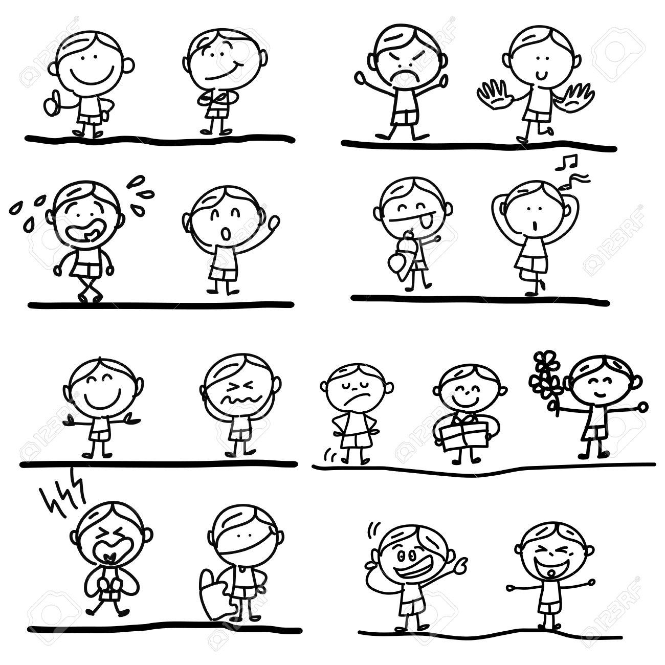 1300x1300 Hand Drawing Cartoon Emotions Royalty Free Cliparts, Vectors,