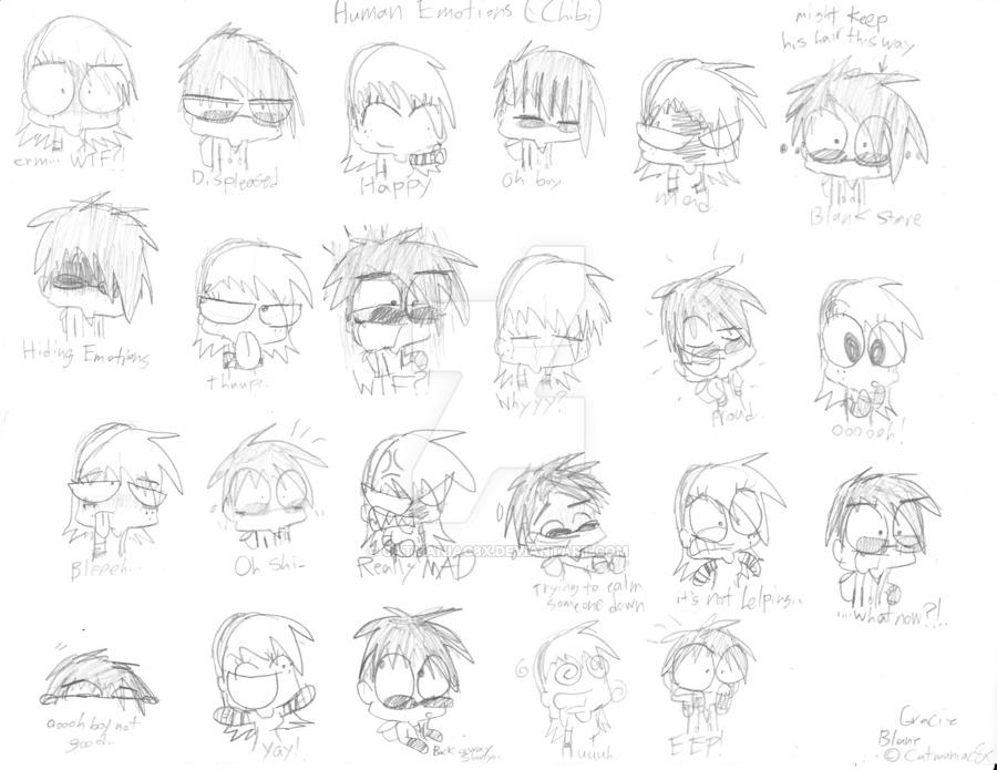 900x695 Human Chibi Emotions By Catmaniac8x
