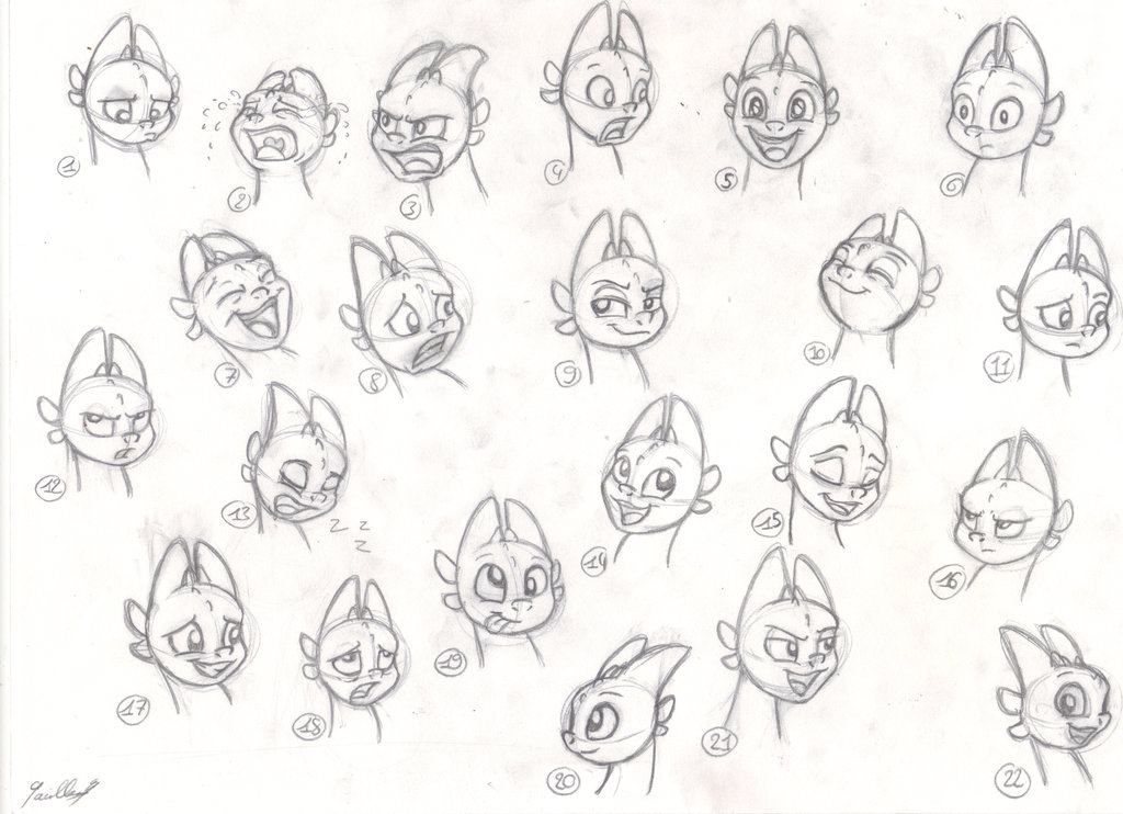 1024x742 Tooth' Emotions Sketches By Gaelledragons