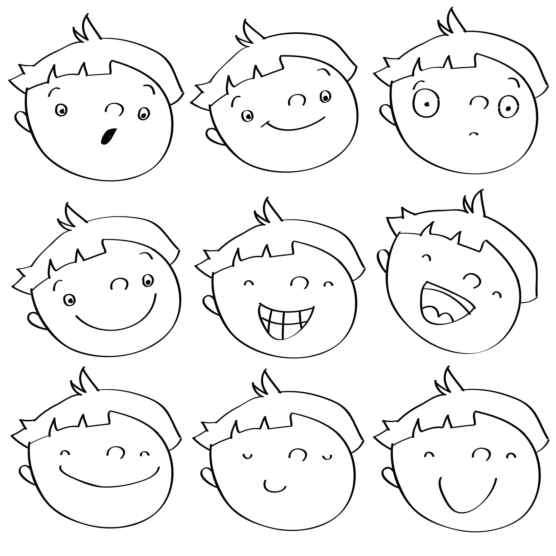 3001x3000 Worksheet Drawing Faces Worksheets