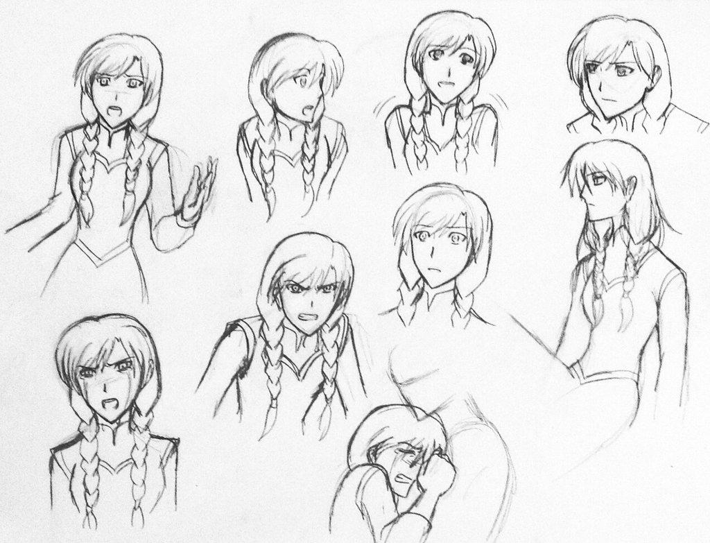 1024x783 Anna Emotions By Zero Kiba