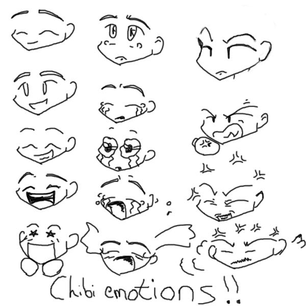 600x600 Chibi Emotions By Devain