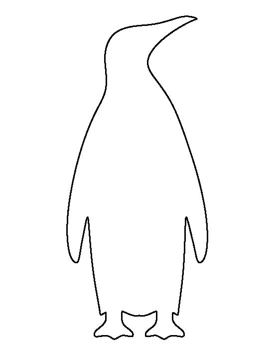 550x712 Emperor Penguin Coloring Page Of A