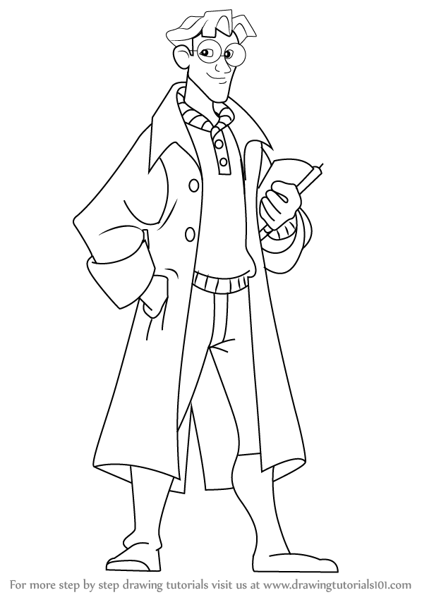 598x844 Learn How To Draw Milo From Atlantis The Lost Empire (Atlantis