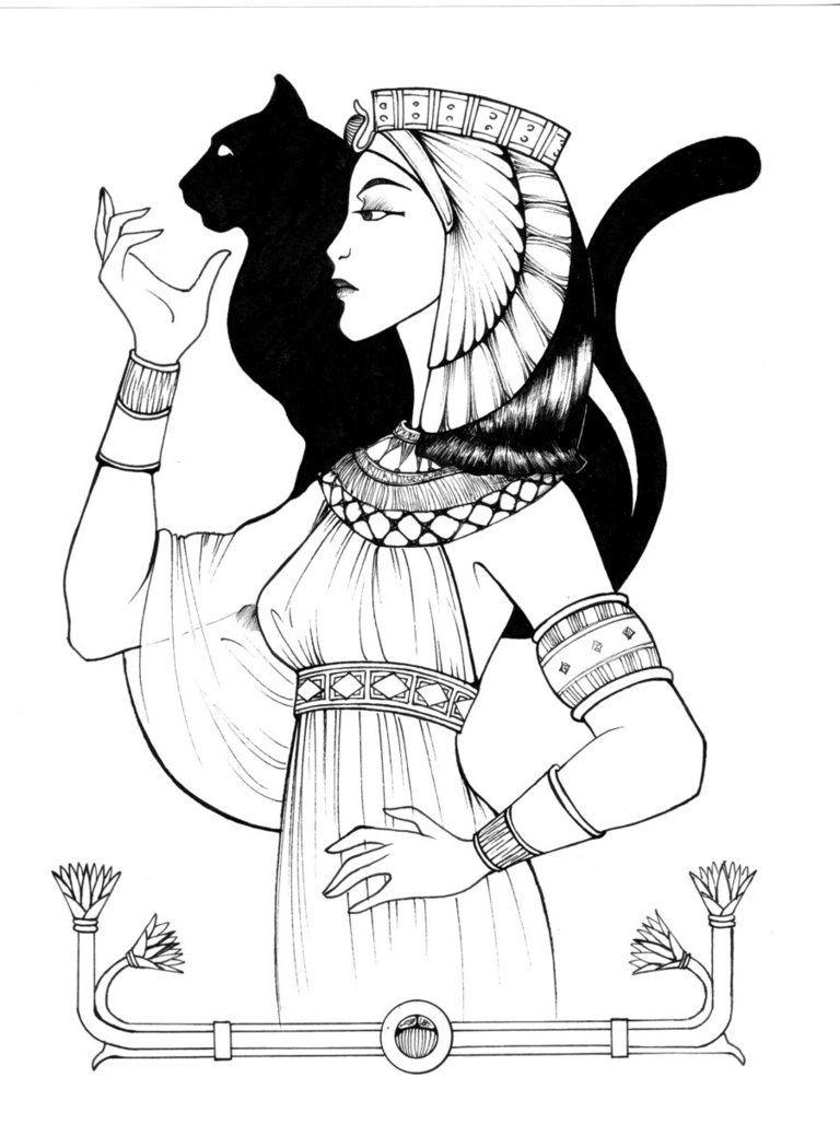 768x1039 Egyptian Old Empire Queen By Shyangell Mythology