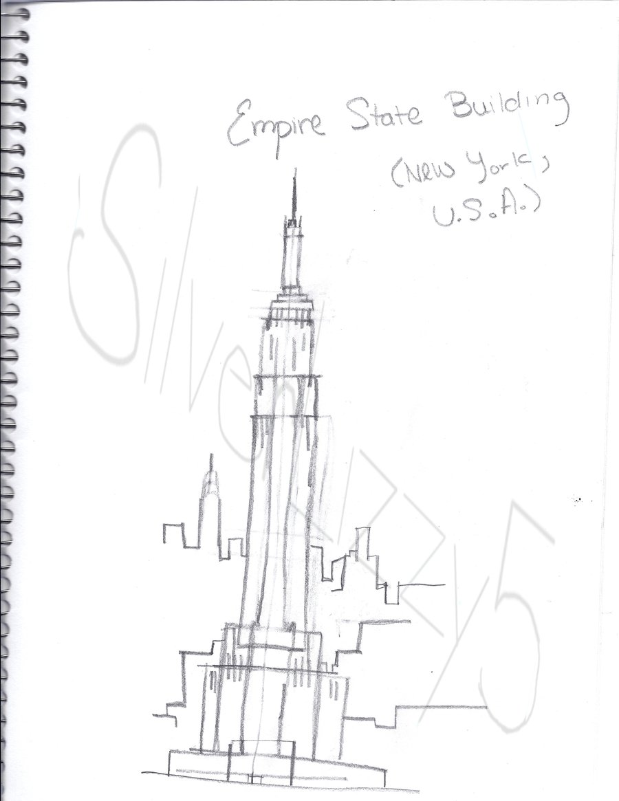 900x1165 Empire State Building By Silverlizzy5