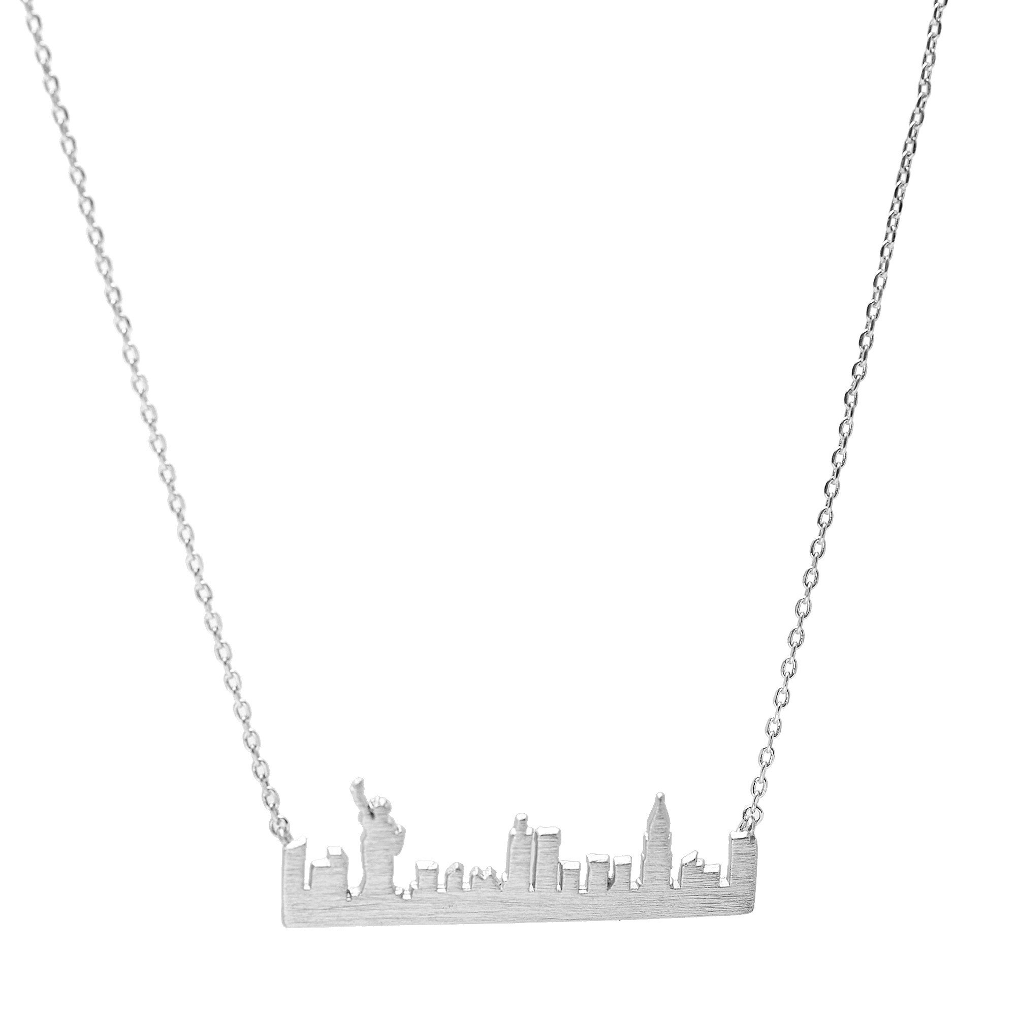 2000x2000 Spinningdaisy Handcrafted Empire State Building Nyc Cityscape Necklace