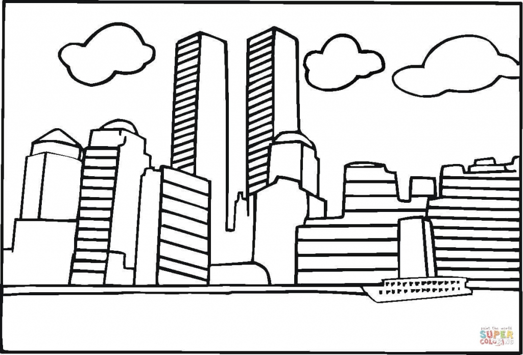1024x695 World Trade Center Drawing Coloring Pages 9 11 Coloring Pages