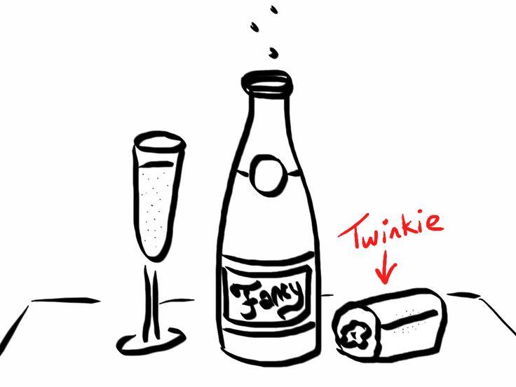 Empty Bottle Drawing