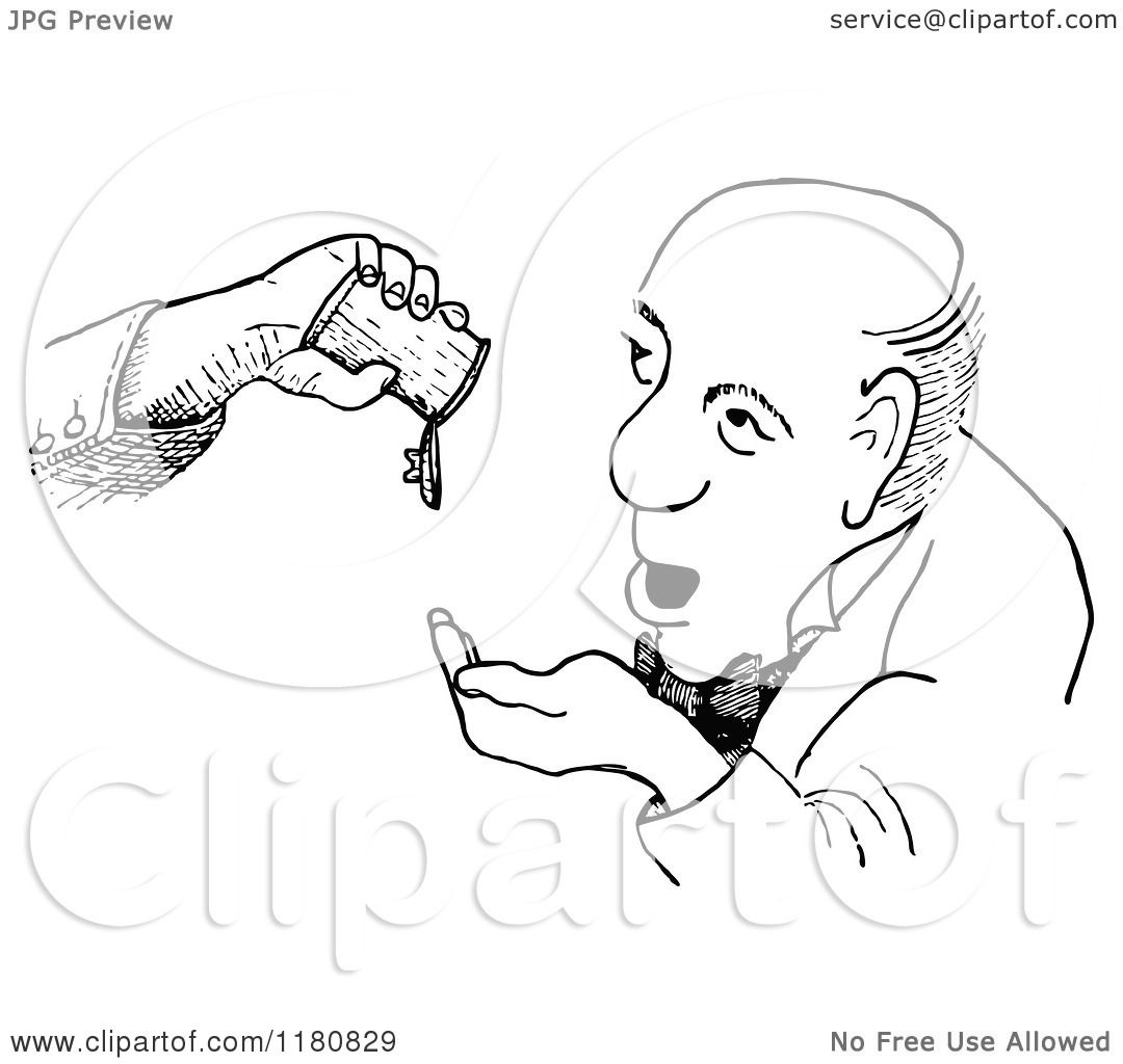 1080x1024 Clipart Of A Retro Vintage Black And White Man And Empty Bottle
