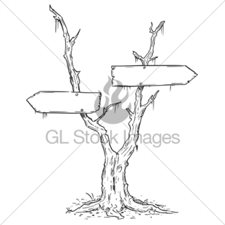 325x325 Fork In The Road Empty Arrow Sign Drawing Gl Stock Images