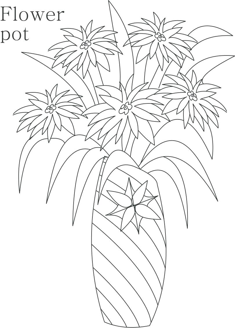 811x1129 Coloring Flower Pot Coloring Page How To Make Drawing Of For Kids