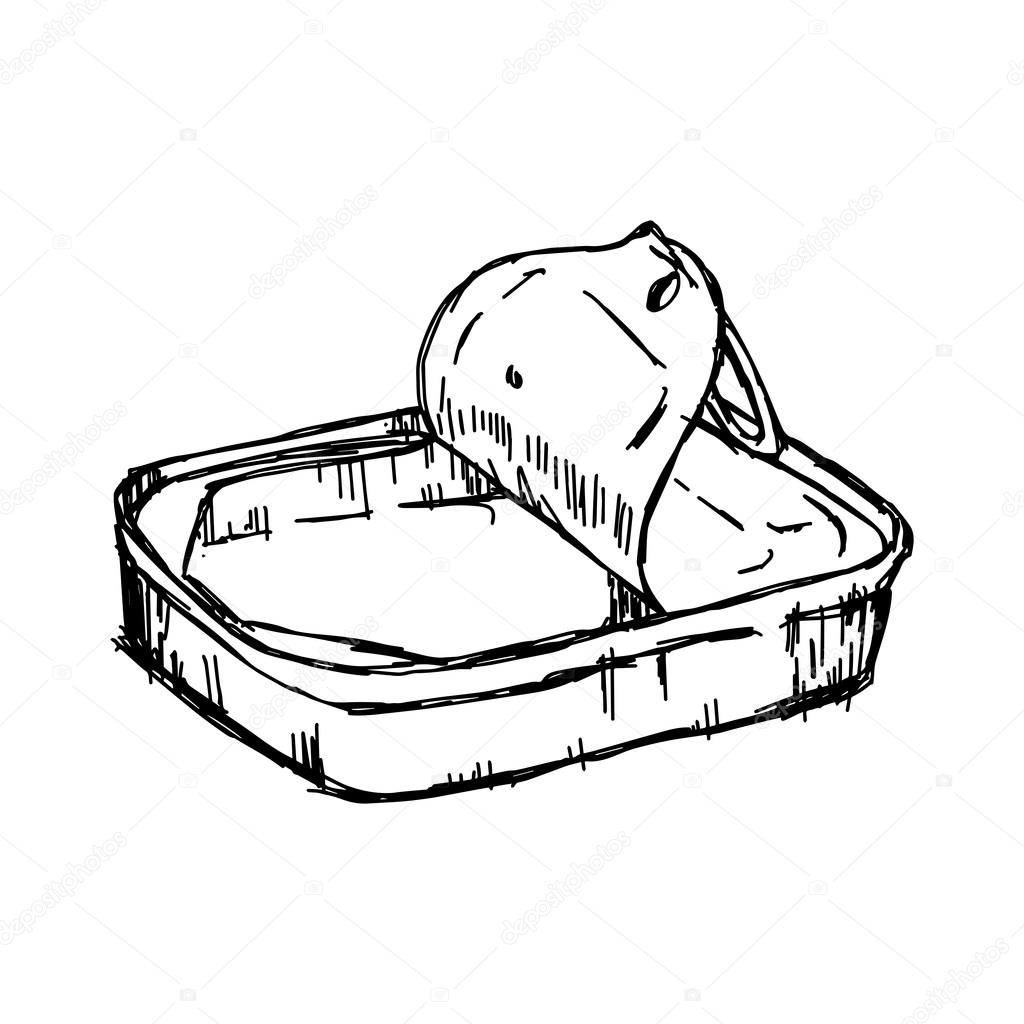 1024x1024 Illustration Vector Hand Draw Doodles Of Empty Tin Can Isolated