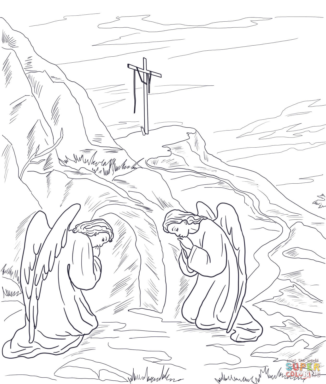 1359x1600 Empty Tomb Coloring Page Free Printable Pages