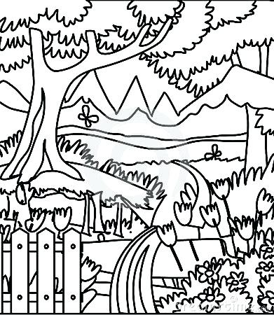 391x450 Forest Coloring Forest Coloring Pages Free Page Site Enchanted