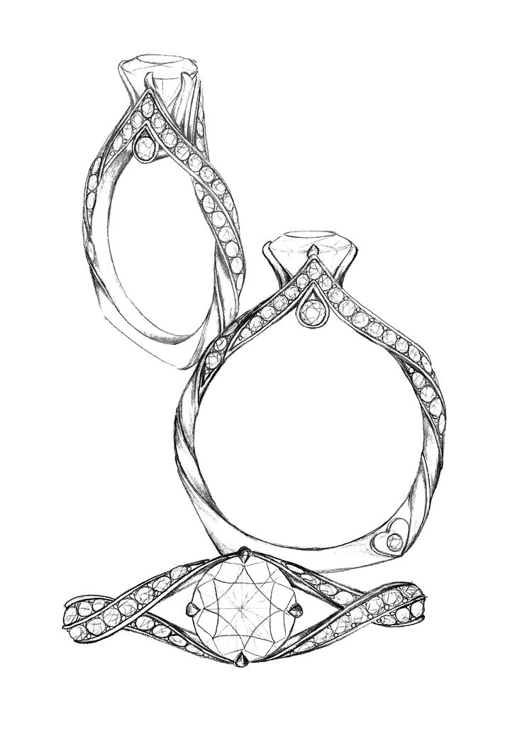 engagement rings drawing at getdrawings com