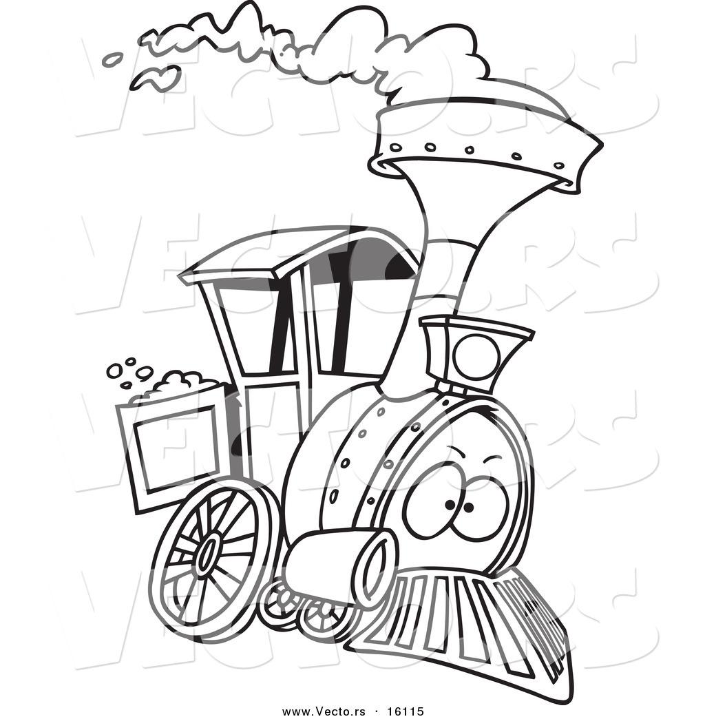 1024x1044 Vector Of A Cartoon Steam Engine Train