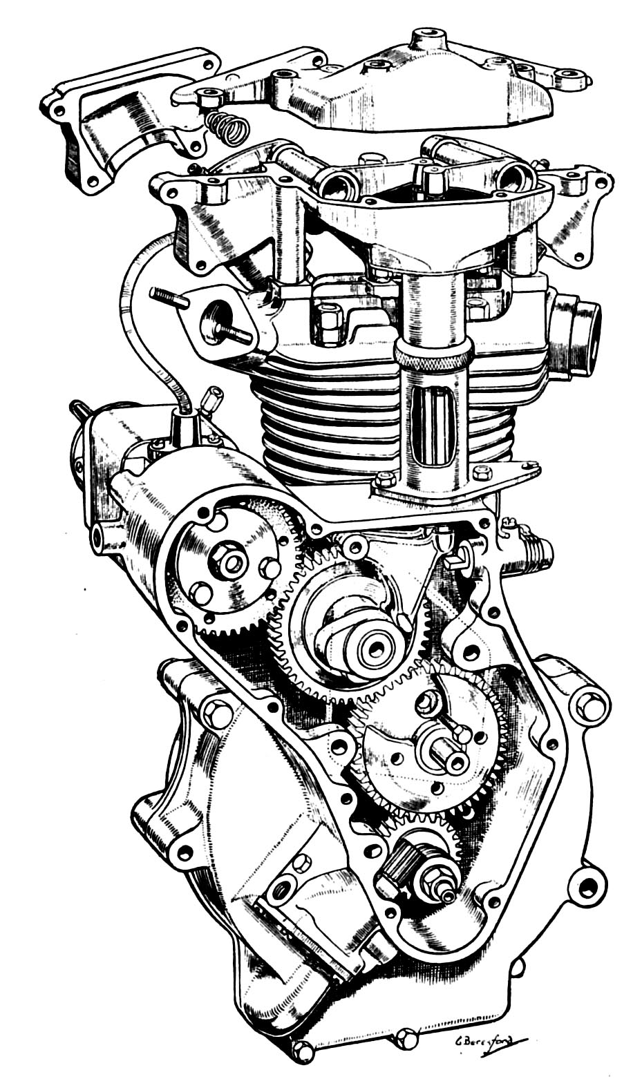 Engine Drawing At Free For Personal Use Motorcycle V Twin Diagram 929x1562 Jap Engines And Blueprints
