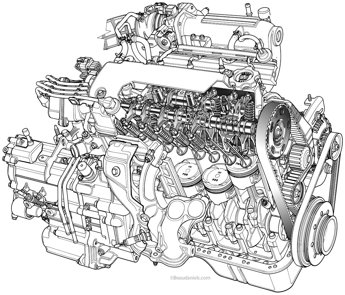Engines Drawing at GetDrawings.com | Free for personal use Engines ...