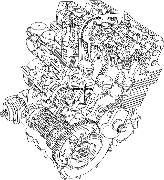 Engines Drawing At Getdrawings Com
