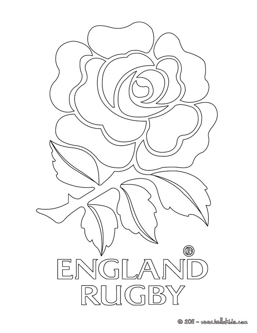 820x1060 England Rugby Team Coloring Pages