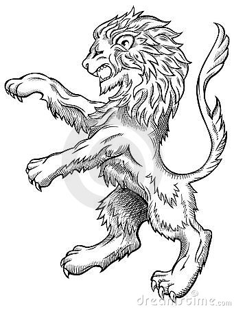341x450 England Lion Tattoo Designs