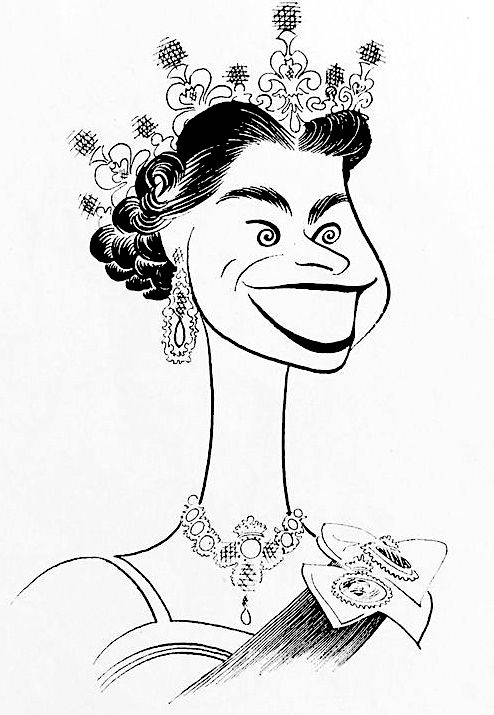 494x715 Her Majesty, Queen Elizabeth Ii Of England' By Al Hirschfeld Al
