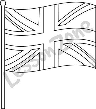 335x381 British Flag Clipart Black And White