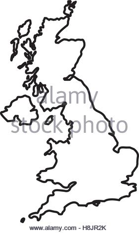 281x470 United Kingdom Country Black Silhouette And With Flag