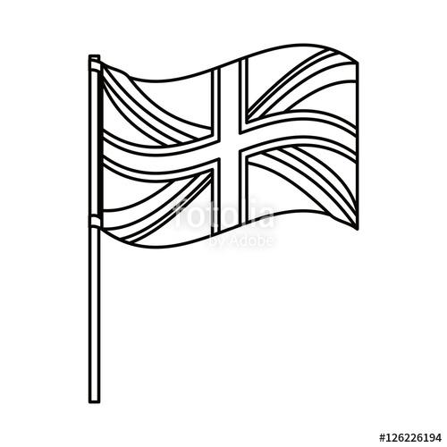 500x500 United Kingdom Flag Icon. London Uk Landmark Tourism And England