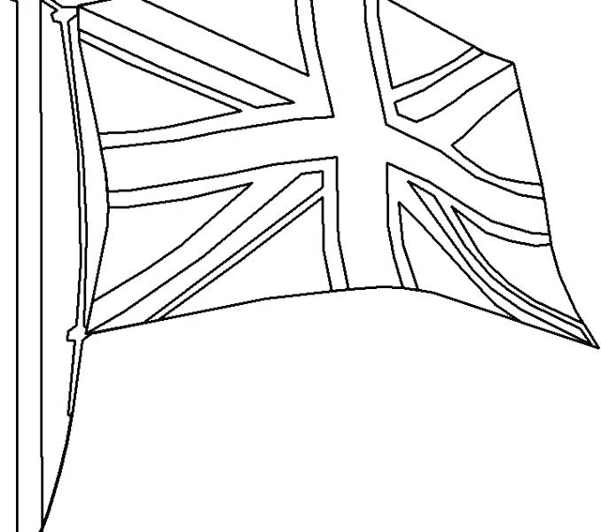 678x600 British Flag Coloring Page