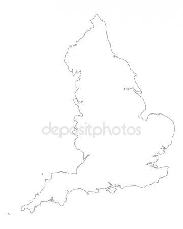 360x450 Accurate Map Of England Stock Vector Rbiedermann