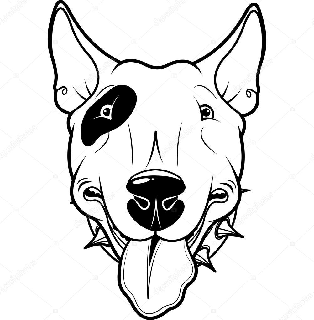 1002x1023 Bull Terrier Stock Vector Dazdraperma
