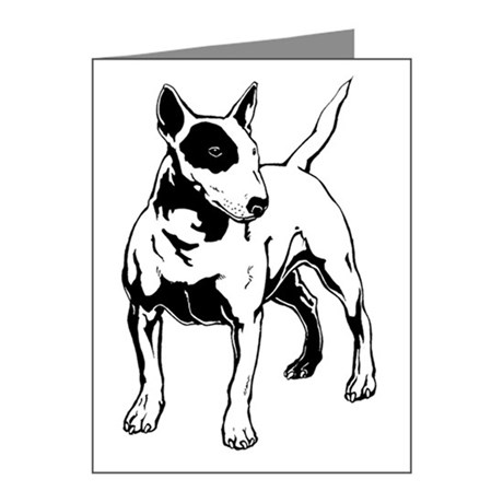 460x460 English Bull Terrier Thank You Cards English Bull Terrier Note