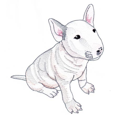 450x450 Realistic Bull Terriers Embroidery Delight Your Source For All