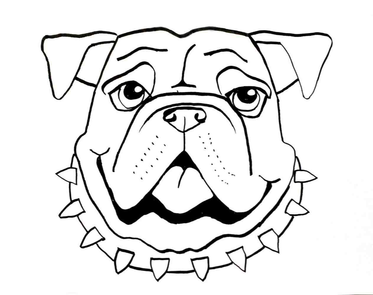 1264x1001 Bulldog Drawing. Bulldog Design. Bulldog Drawing By Erinkejo